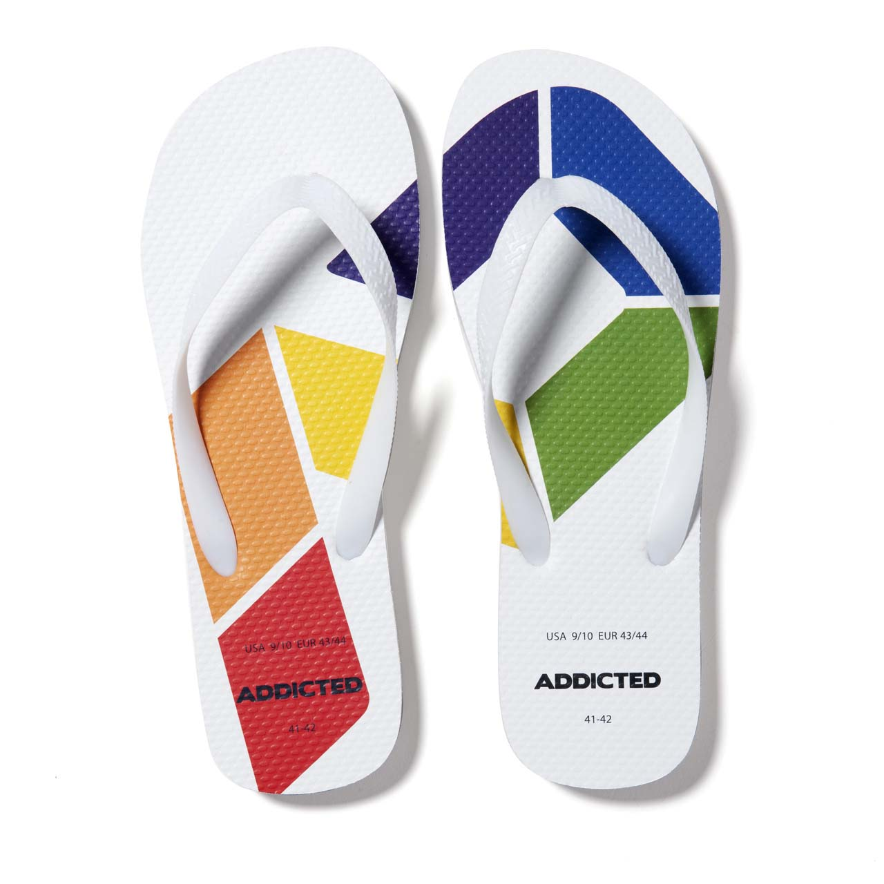 Tong Addicted Rainbow Flip Flop AD795