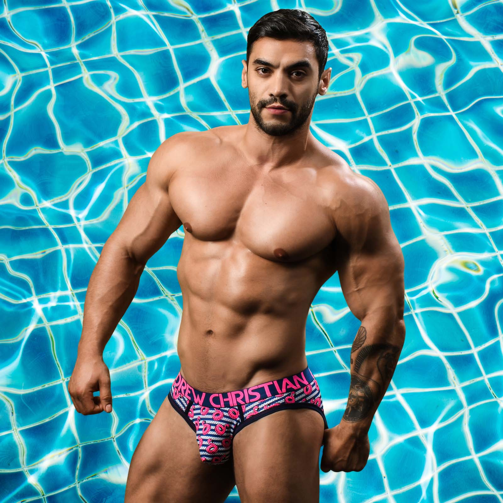 Jock Strap Andrew Christian Flamingo Pool 91098
