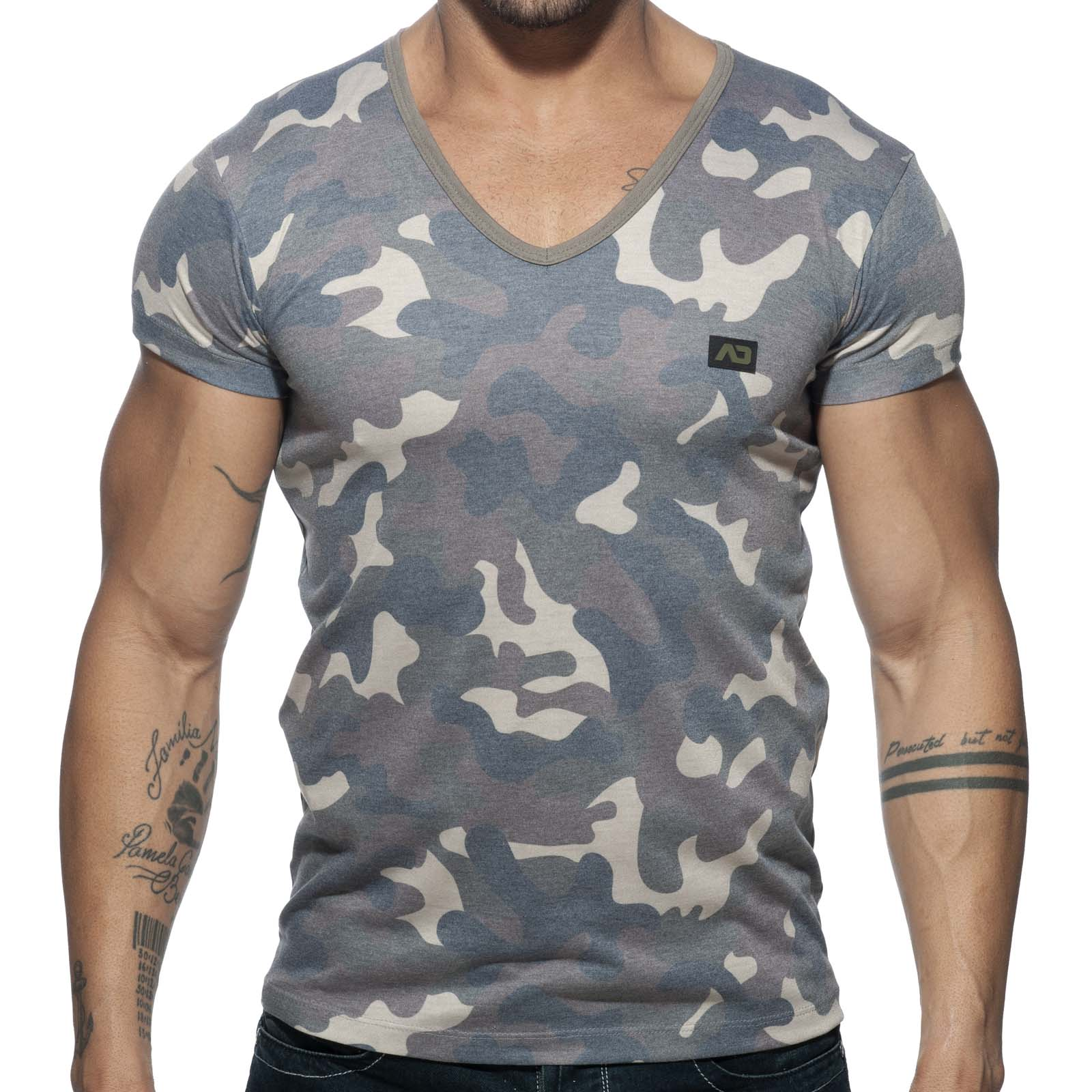 T-Shirt Addicted Washed Camo AD800