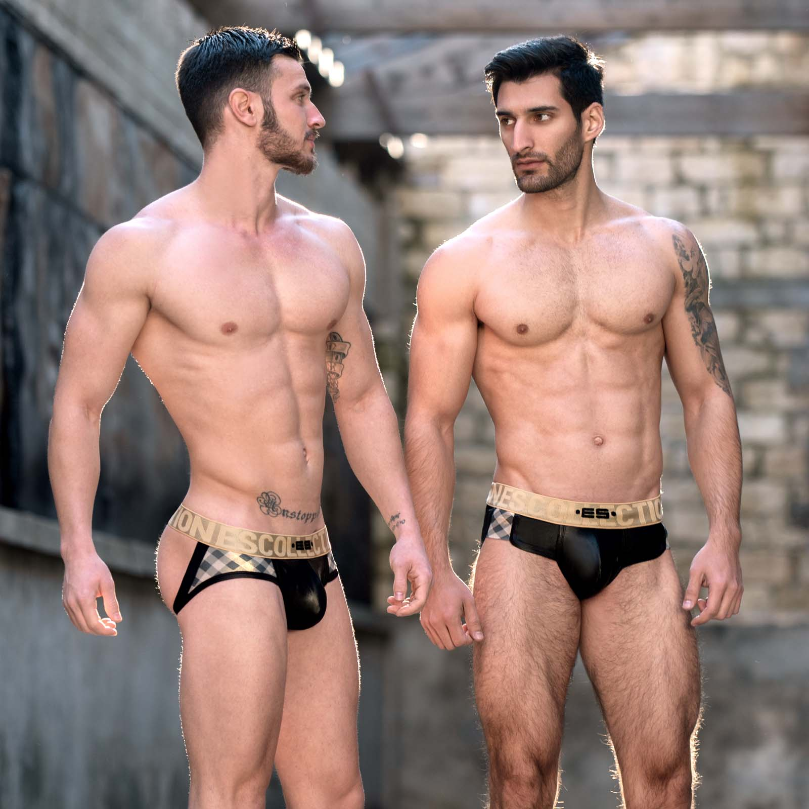 Jock Strap ES Collection Squares Gold UN319