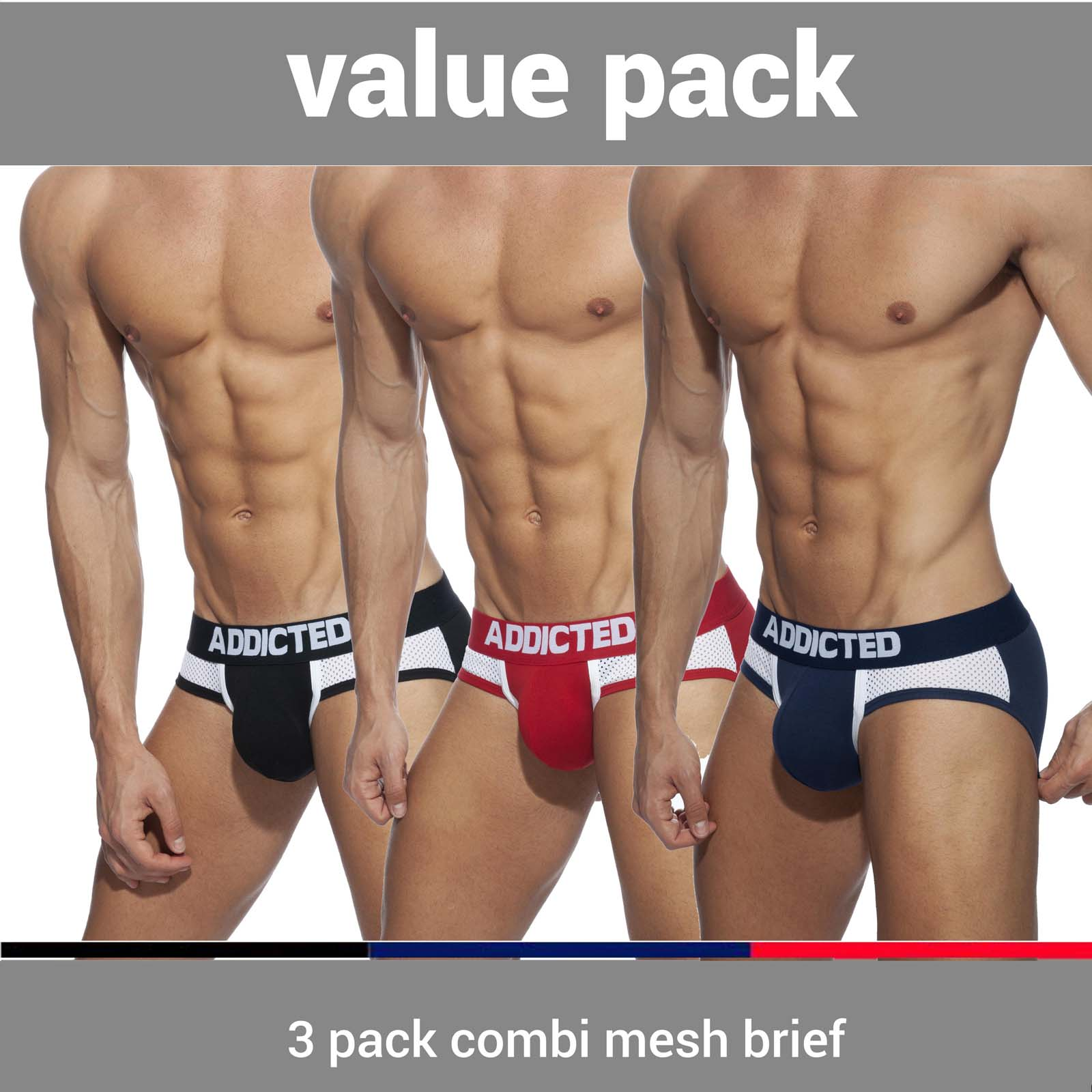 Pack of Briefs Addicted AD845PP