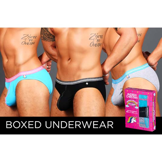 Pack of Brief Andrew Christian Boy Brief Unicorn 91440