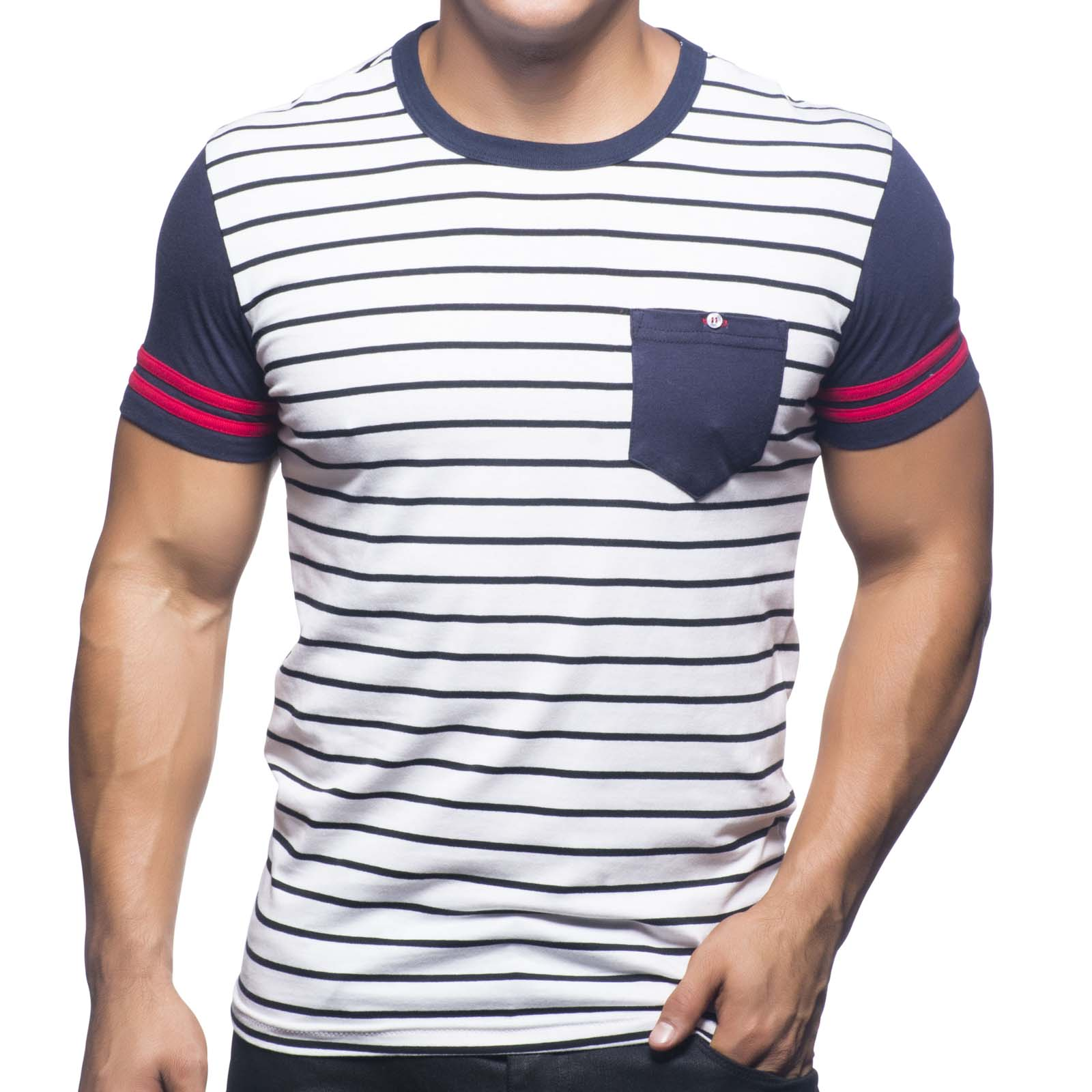 T-Shirt Andrew Christian Hamptons Stripe 10218