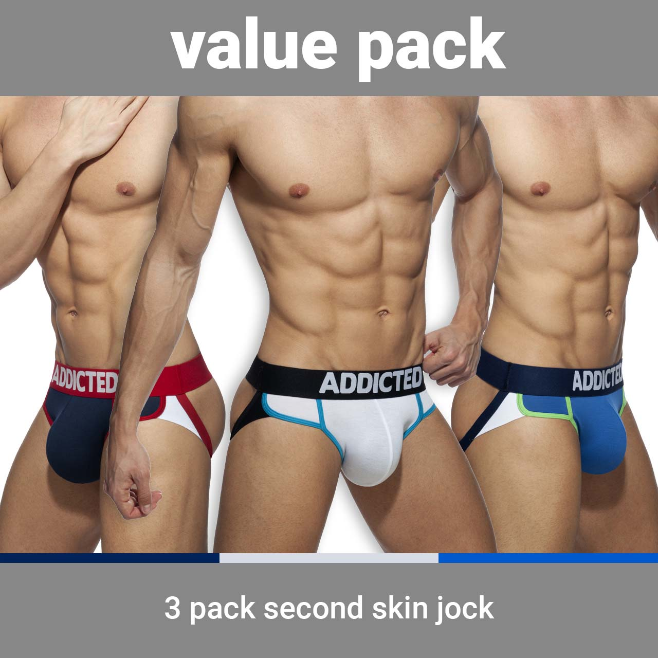 Pack of Jock Straps Addicted Second Skin AD899PP
