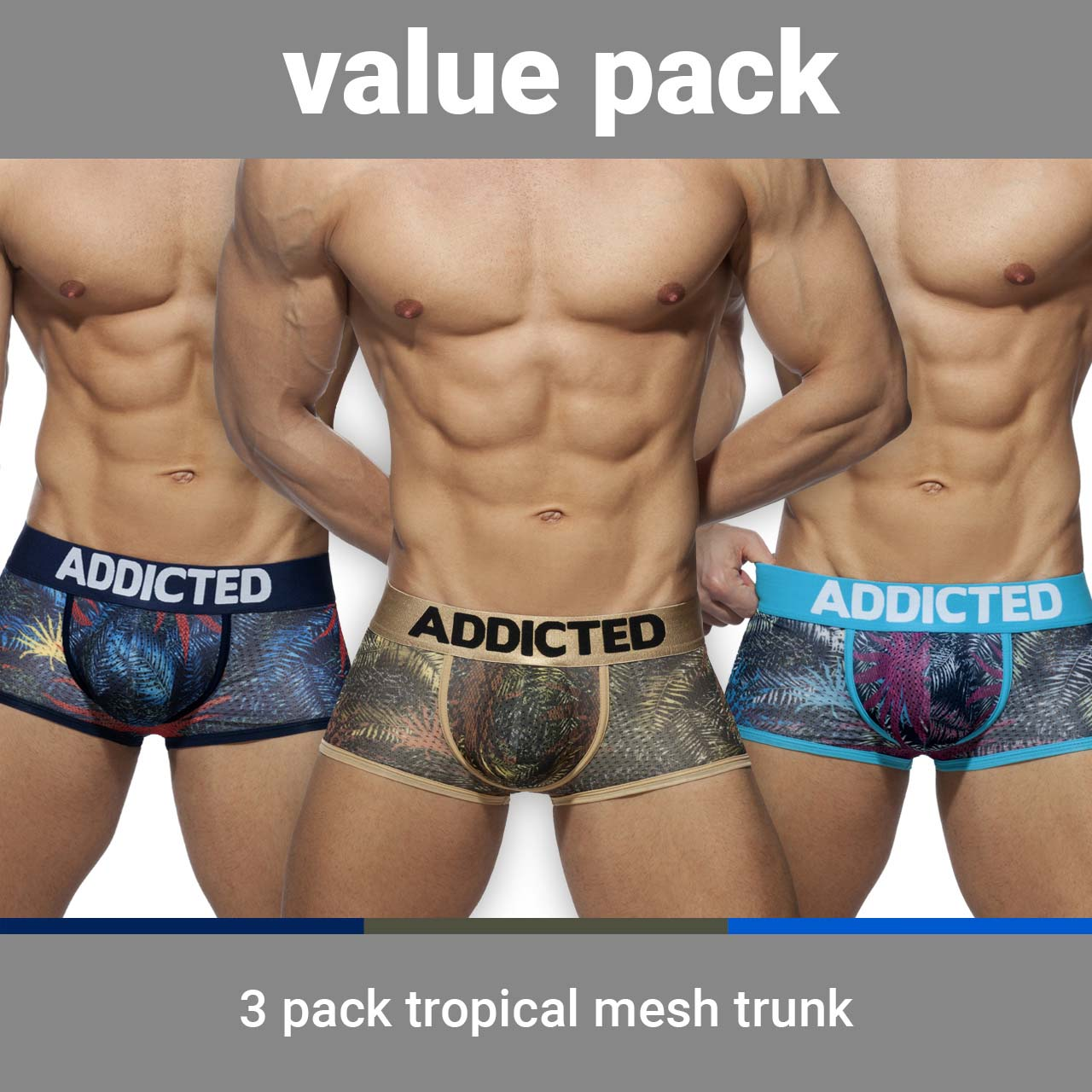 Pack of 3 Boxers Addicted Tropical AD890P