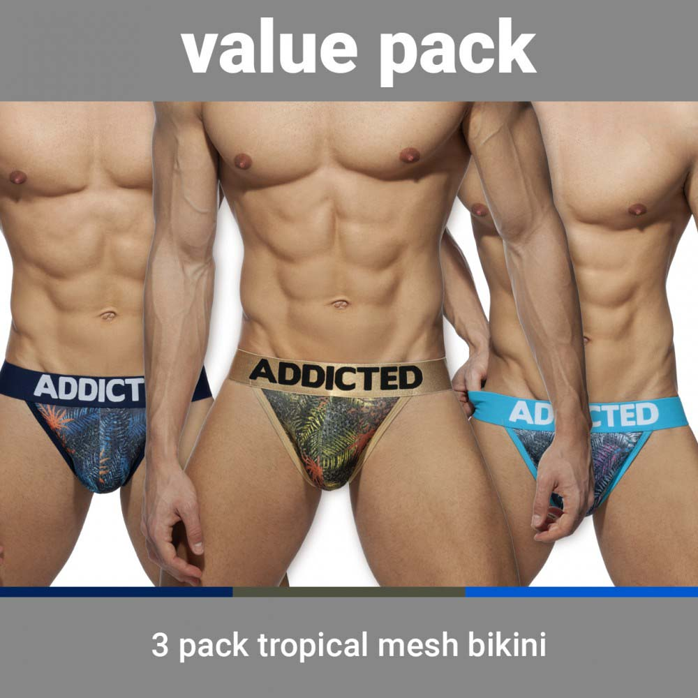 Pack of 3 Tangas Addicted Tropical AD891P