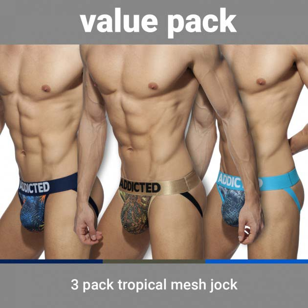 Pack of 3 Jock Straps Addicted Tropical AD911P