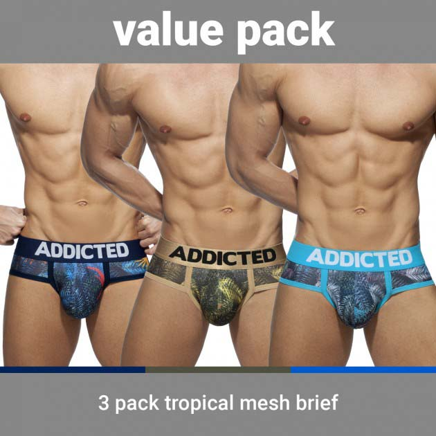 Pack of 3 Briefs Addicted Tropical AD889P