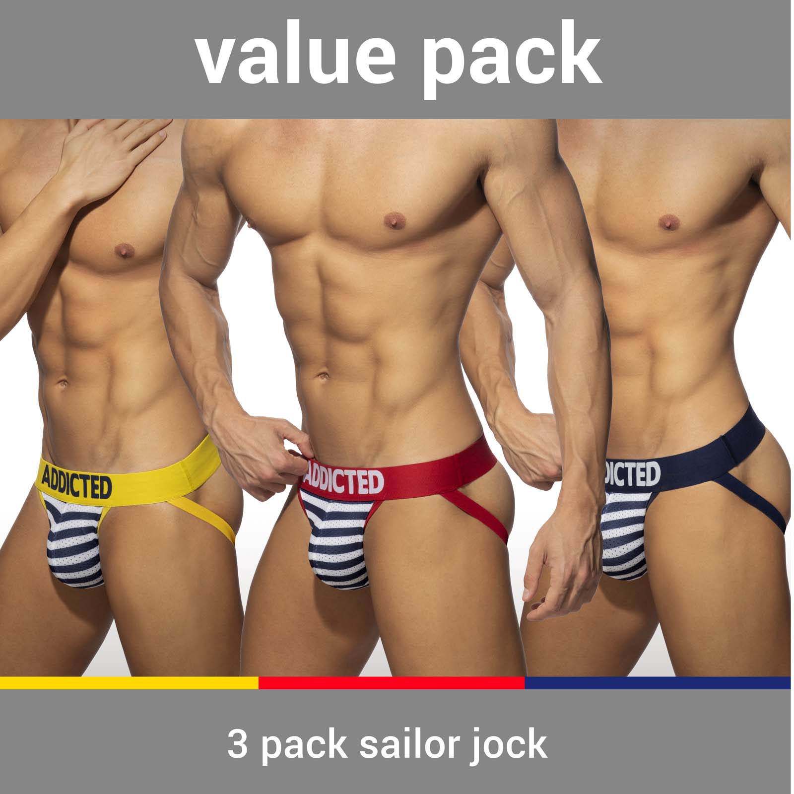 Pack of Jock Straps Addicted AD966PP